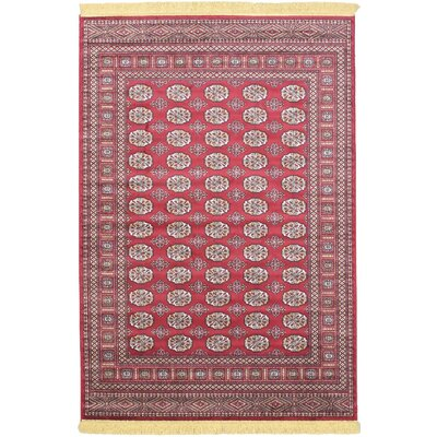Dalton Red Area Rug Rug Size: 45 x 65