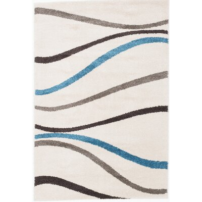 Ivory Area Rug Rug Size: 52 x 75