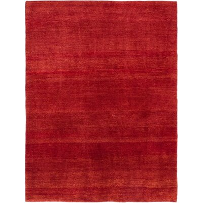 One-of-a-Kind Persian Gabbeh Hand-Knotted Red Area Rug