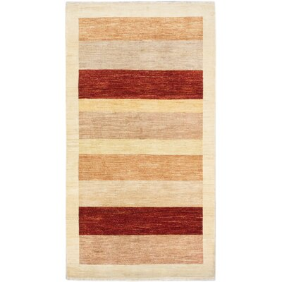 Peshawar Ziegler Hand-Knotted Cream/Red Area Rug