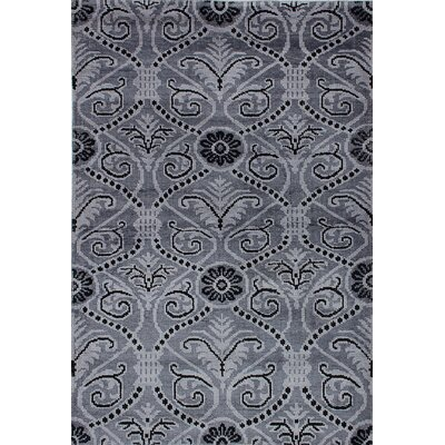 Jules Ushak Hand-Knotted Gray/Black Area Rug