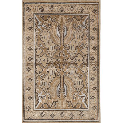 La Seda Hand-Knotted Beige/Brown Area Rug