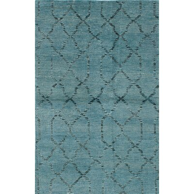 Brewster Hand-Knotted Turquoise/Black Area Rug