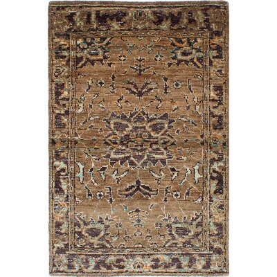 Brewster Hand-Knotted Light Brown Area Rug
