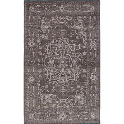 Brewster Hand-Knotted Dark Gray Area Rug