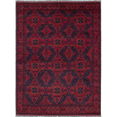One-of-a-Kind Rosales Hand-Knotted Red/Navy Area Rug