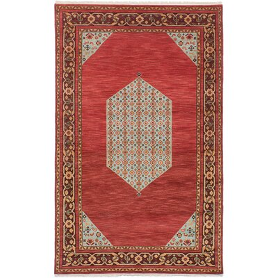 One-of-a-Kind Peshawar Ziegler Hand-Knotted Red/Brown Area Rug