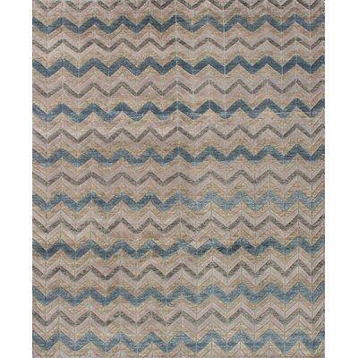 Mystique Hand-Knotted Beige/Gray Area Rug