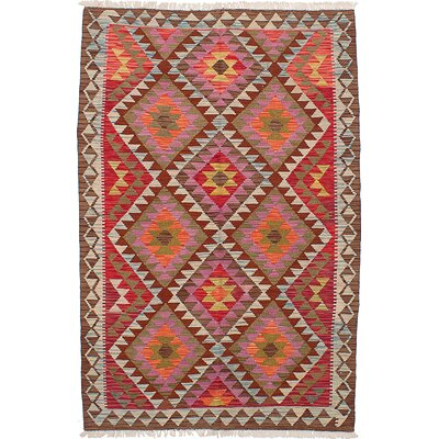 Olmsted Hand-Woven Dark Red/Violet Wool Indoor Area Rug