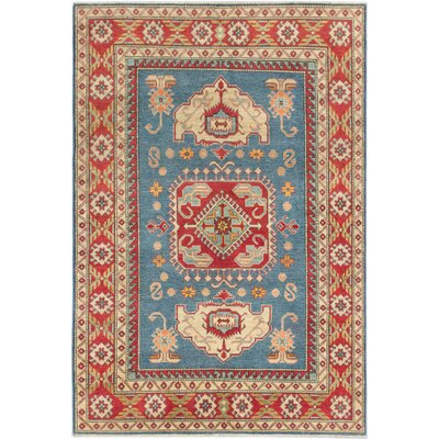 Gazni Hand-Knotted Red/Beige Area Rug