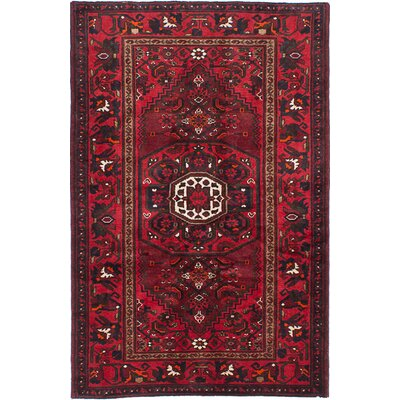 Bakhtiar Hand-Knotted Dark Red Area Rug
