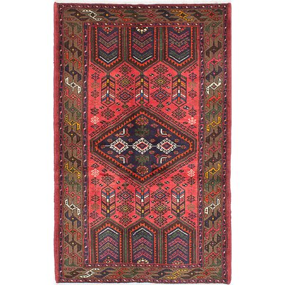 One-of-a-Kind Hand-Knotted Red/Brown Area Rug