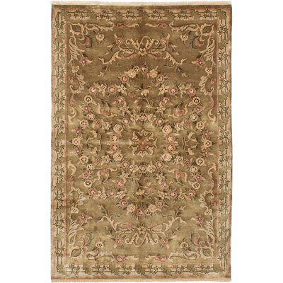 One-of-a-Kind Karma Hand-Knotted Brown Area Rug