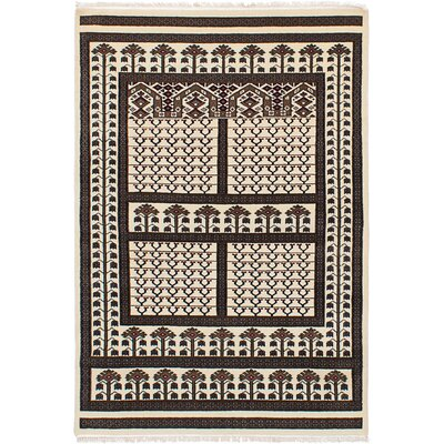One-of-a-Kind Peshawar Hand-Knotted Beige/Brown Area Rug