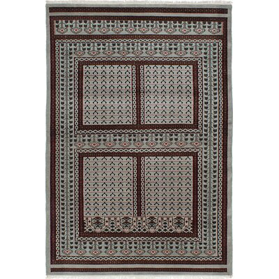 One-of-a-Kind Peshawar Hand-Knotted Light Grey/Brown Area Rug