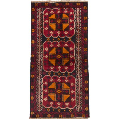 Bahor Hand-Knotted Red/Orange Area Rug