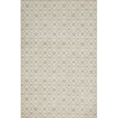 One-of-a-Kind Derrall Hand-Knotted Beige Area Rug
