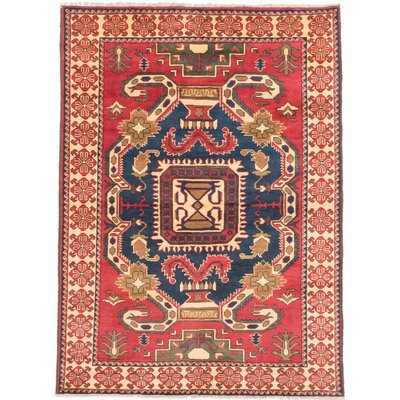 Bunkerville Hand-Knotted Red/Black Area Rug