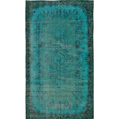 One-of-a-Kind Hand-Knotted Blue Area Rug