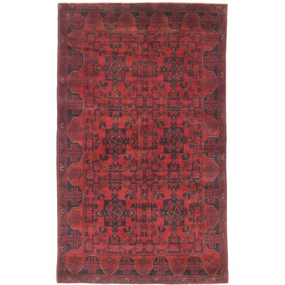 One-of-a-Kind Rosales Hand-Knotted Red Area Rug
