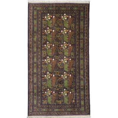 One-of-a-Kind Mcdorman Hand-Knotted Brown/Green Area Rug