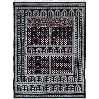 One-of-a-Kind Onondaga Hand-Knotted Black Area Rug