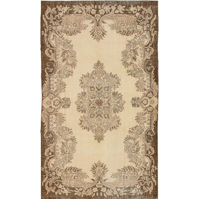 One-of-a-Kind Olsen Hand-Knotted Wool Beige Area Rug