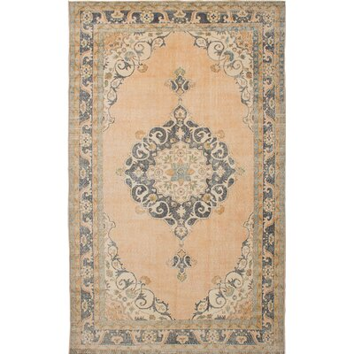 Flynn Hand-Knotted Beige Area Rug