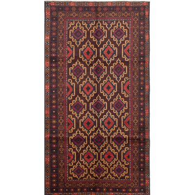 Finest Rizbaft Hand-Knotted Red/Brown Area Rug