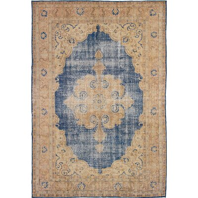 One-of-a-Kind Olsen Hand-Knotted Beige/Blue Area Rug