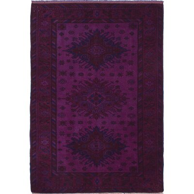 Hand-Knotted Purple Area Rug