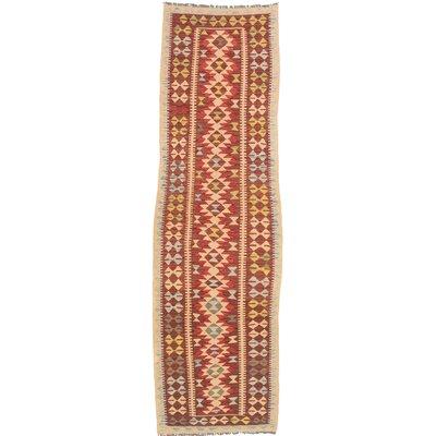 One-of-a-Kind Hereke Handmade Wool Red/Beige Area Rug