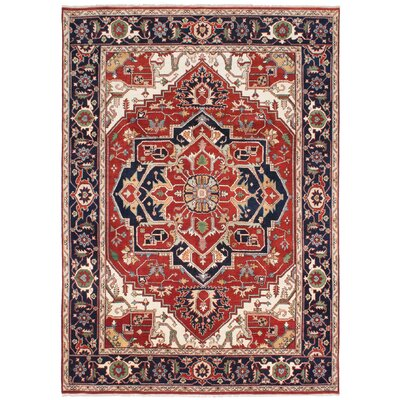 Serapi Heritage Hand-Knotted Red/Beige/Black Area Rug