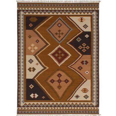 One-of-a-Kind Ankara Handmade Wool Brown/Beige Area Rug