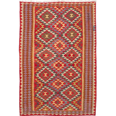 Olmsted Hand-Woven Red Area Rug