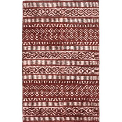 Brewster Hand-Knotted Brown/Beige Orange Area Rug