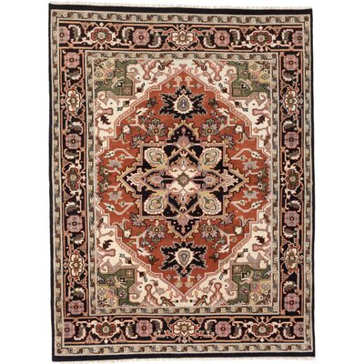 Bovell Hand-Knotted Red/Brown Area Rug