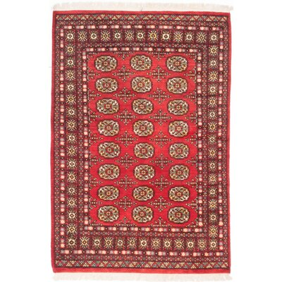 Olney Springs Hand-Knotted Red Area Rug