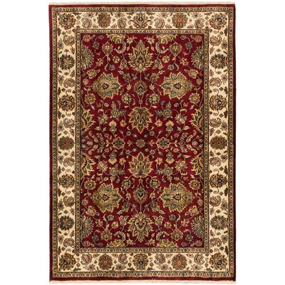 One-of-a-Kind Mirzapur Hand-Knotted Red Area Rug