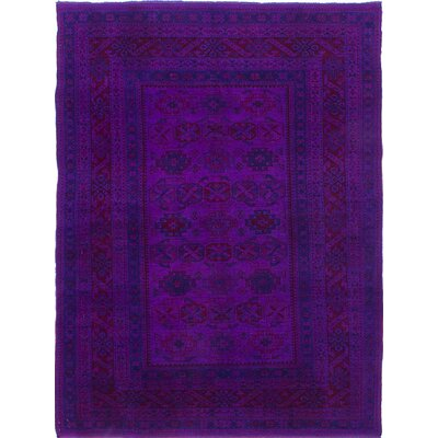 One-of-a-Kind Hand-Knotted Purple Area Rug