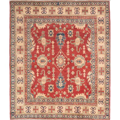 One-of-a-Kind Bernard Hand-Knotted Red/Beige Area Rug