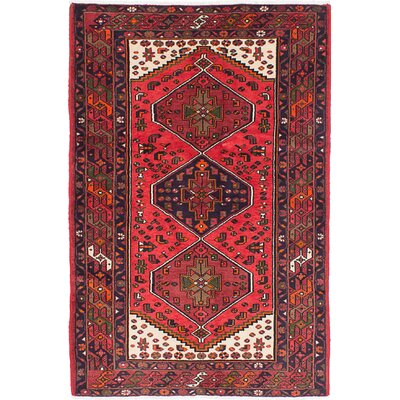 Anston Hand-Knotted Light Red Area Rug