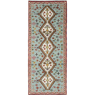 Royal Kazak Hand-Knotted Slate Blue Area Rug