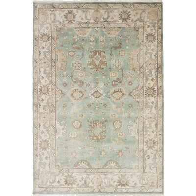 Royal Ushak Hand-Knotted Green Teal Area Rug