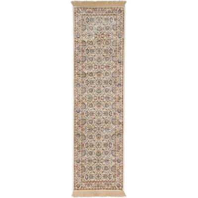 Shiravan Viscose Beige Area Rug Rug Size: Runner 23 x 71