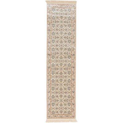 Shiravan Viscose Beige Area Rug Rug Size: Runner 26 x 91