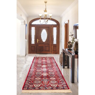 Shiravan Viscose Dark Burgundy Area Rug