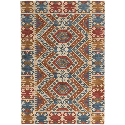 Burma Cream/Red Area Rug