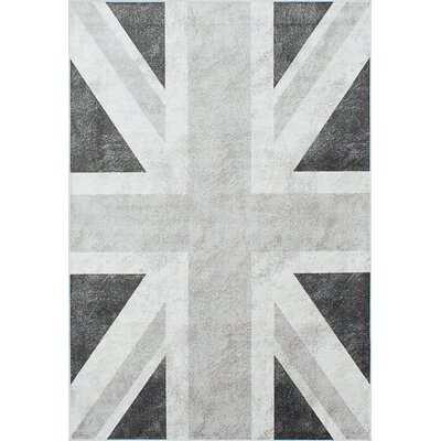 Union Jack Gray Area Rug