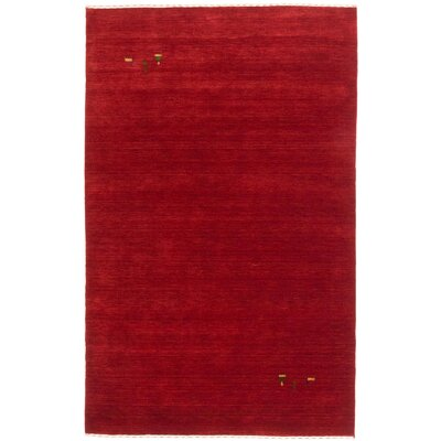 Remy Wool Hand-Knotted Red Area Rug Rug Size: 4 x 6